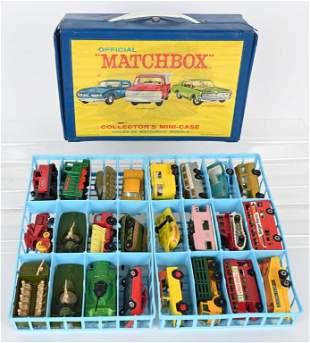 24- VINTAGE MATCHBOX CARS IN COLLECTORS CASE