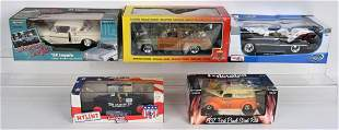 5- DIECAST VINTAGE STYLE VEHICLES w/ BOXES