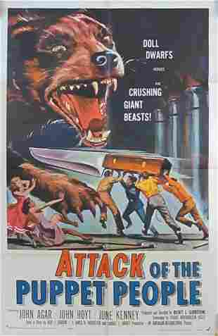 ATTACK OF THE PUPPET PEOPLE ONE SHEET