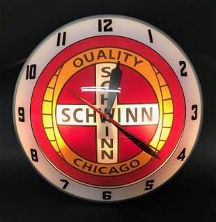 AMERICAN-RETRO SCHWINN BIKES DOUBLE BUBBLE CLOCK