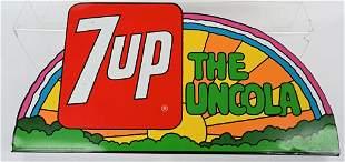 7UP THE UNCOLA TIN RAINBOW SIGN