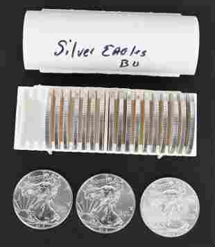 20 - US AMERICAN SILVER EAGLES