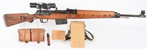 WW2 WALTHER K43 W/ ZF4 SCOPE AND ACCESORIES