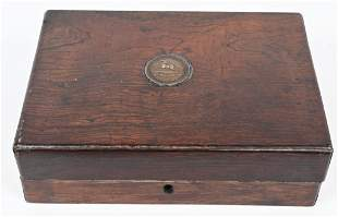 PERIOD WOOD DISPLAY CASE FOR COLT PATTERSON