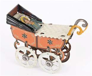 GERMAN PENNY TOY BABY CARRIAGE