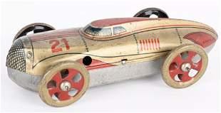 GERMAN TIN WINDUP LAND SPEED RACER