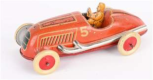 GERMAN PENNY TOY TIN BOAT TAIL RACER