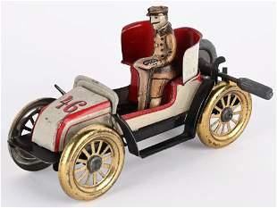 CARETTE TIN FLYWHEEL #46 EARLY RACE CAR