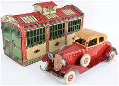 ROSSIGNOL TIN WINDUP AUTOMOBILE & GARAGE