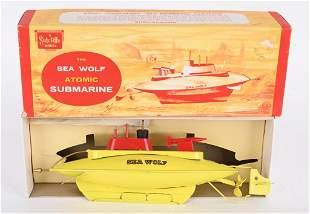 SUTCLIFFE WINDUP SEA WOLF ATOMIC SUBMARINE w/BOX