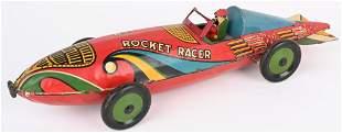 MARX TIN WINDUP ROCKET RACER