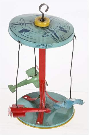 TIN WINDUP FLYING PLANES TOY