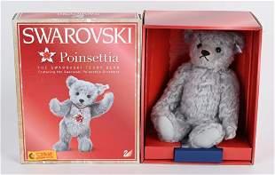 2007 STEIFF CHRISTMAS CRYSTAL POINSETTA TEDDY BEAR
