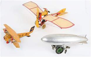 3- AVIATION TOYS, TIN AIRPLANES AND GRAF ZEPPELIN
