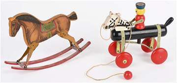 2- VINTAGE TOYS, TOY TINKERS and GIBBS HORSES