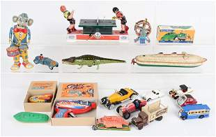 LOT OF MISC. MECHANICAL TOYS