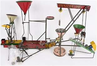 VINTAGE LOT OF TIN SAND TOYS & MORE