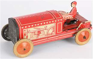 GERMAN GEORGE LEVY TIN FRICTION TRACTOR