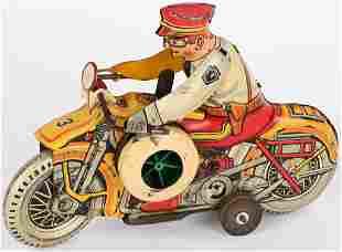 MARX TIN WINDUP ROOKIE COP MOTORCYCLE