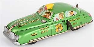 MARX TIN WINDUP DICK TRACY CAR LIGHT GREEN