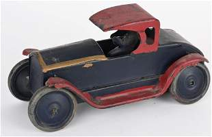 SCHIEBLE 1920's FRICTION COUPE w/ DRIVER