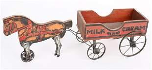 EARLY GIBBS HORSE DRAWN MILK and CREAM WAGON