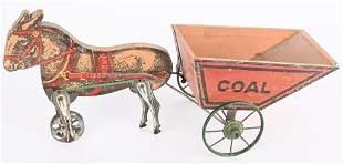 EARLY GIBBS HORSE DRAWN COAL CART