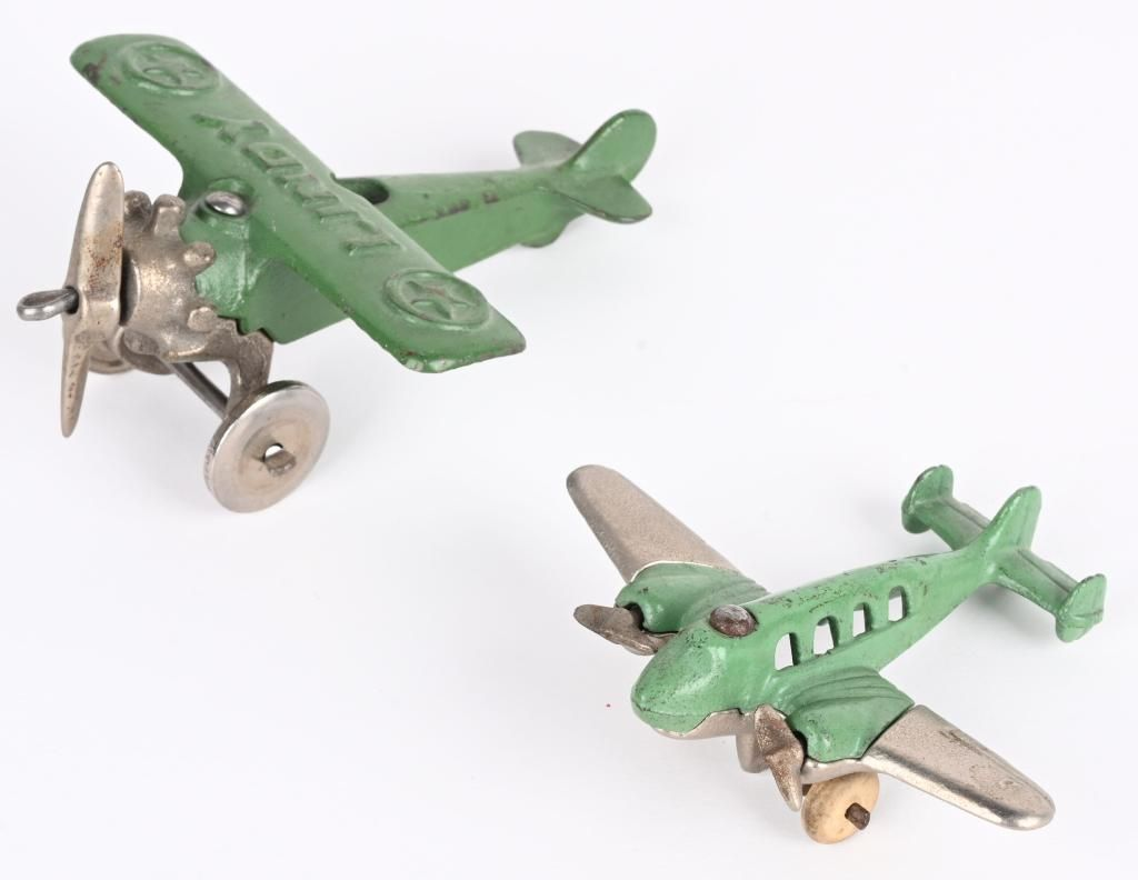 2- HUBLEY CAST IRON AIRPLANES