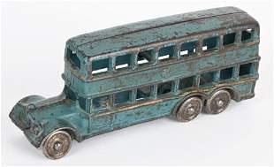 A.C. WILLIAMS CAST IRON DOUBLE DECKER BUS