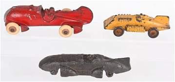 2- HUBLEY CAST IRON RACE CARS