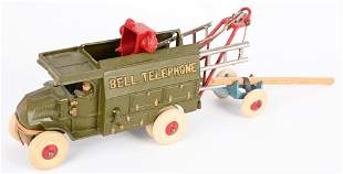 HUBLEY CAST IRON LARGE SIZE BELL TELEPHONE TRUCK
