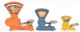 3- VINTAGE CAST IRON TOY SCALES