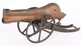 YOUNG AMERICA CAST IRON MARBLE CANNON PAT. 1907