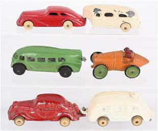 4- DIECAST 1930'S VEHICLES, BARCLAY & MORE