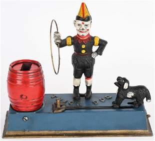 HUBLEY TRICK DOG MECHANICAL BANK