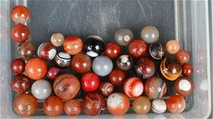 LOT OF HANDMADE AGATE MARBLES