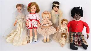 7- VINTAGE DOLLS , SHIRLEY TEMPLE & MORE