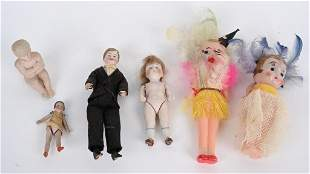 4- VINTAGE BISQUE DOLLS and MORE