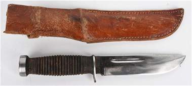 WWII US CASE XX 337-6Q FIGHTING KNIFE W/ SCABBARD