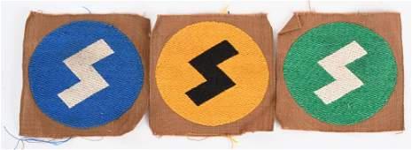 WWII NAZI GERMAN HITLER YOUTH DJ INSIGNIA LOT WW2