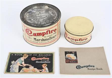 CAMPFIRE MARSHMALLOWS TINS & RECIPE BOOKS