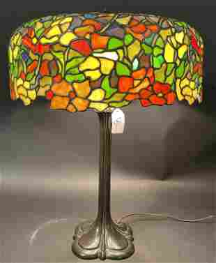 WHALEY POPPY LEADED GLASS LAMP