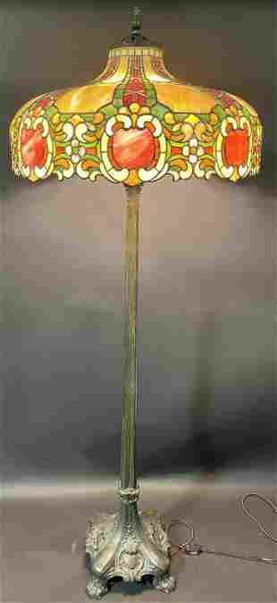 DUFFNER & KIMBERLY ELIZABETHAN LEADED FLOOR LAMP
