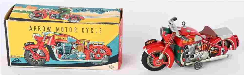 JAPAN TIN WINDUP ARROW MOTORCYCLE w/ BOX