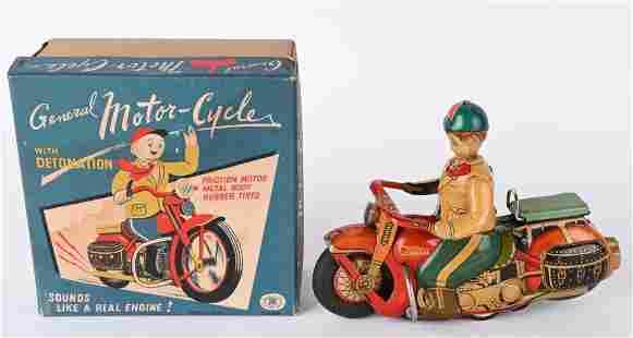 JAPAN TIN FRICTION GENERAL MOTORCYCLE w/ BOX