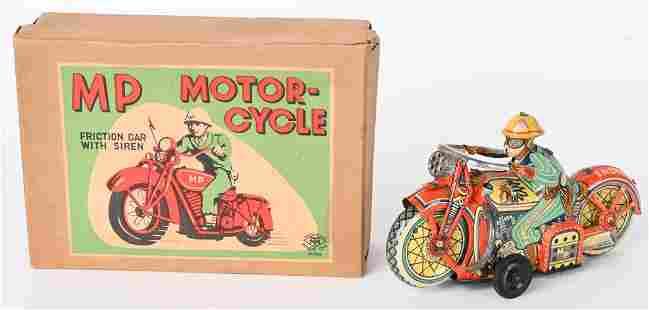 JAPAN TIN FRICTION MP INDIAN MOTORCYCLE w/ BOX