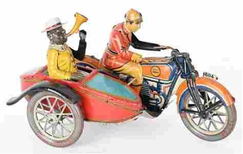 PAYA TIN WINDUP MOTORCYCLE w/ SIDECAR