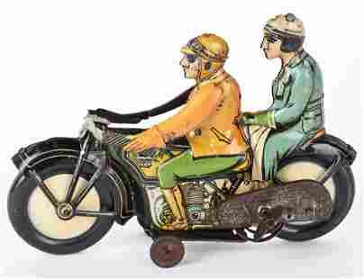 RAS TIN WINDUP DOUBLE RIDER MOTORCYCLE