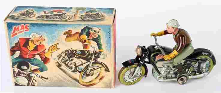 ARNOLD TIN WINDUP MAC 700 BLACK MOTORCYCLE w/ BOX