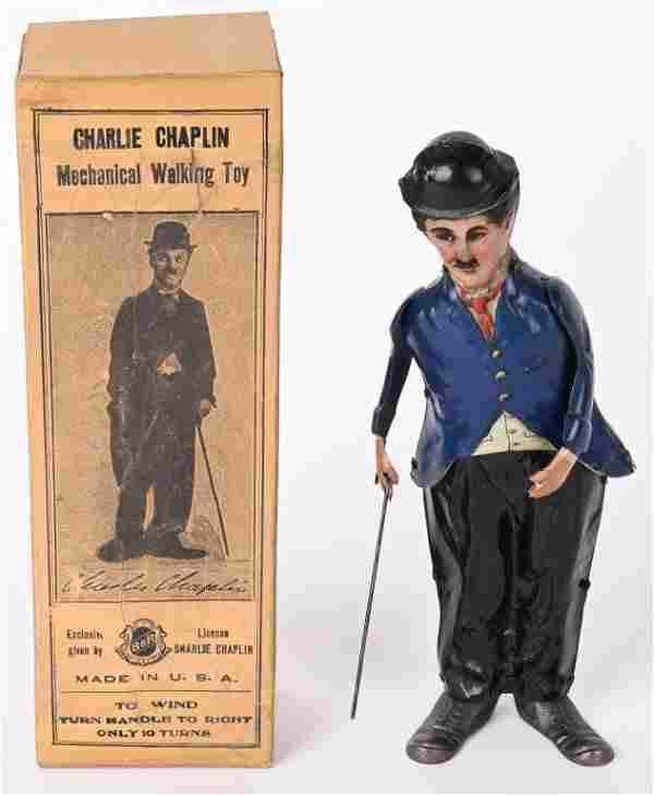 B&R TIN WINDUP CHARLIE CHAPLIN w/ BOX